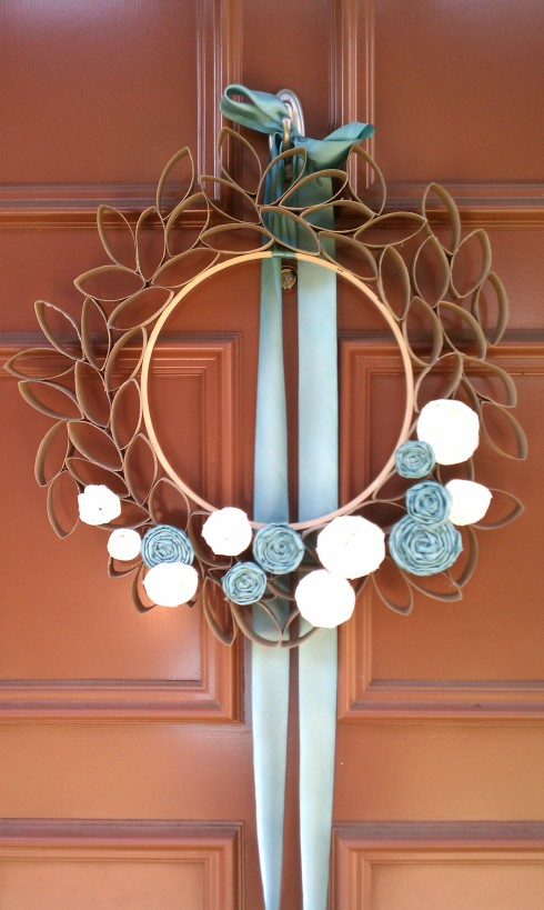 Embroidery hoop wreath base